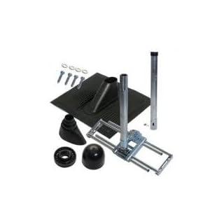 A.S.Sat 59130 Dachsparren-Montageset für Antennen (100 cm) schwarz