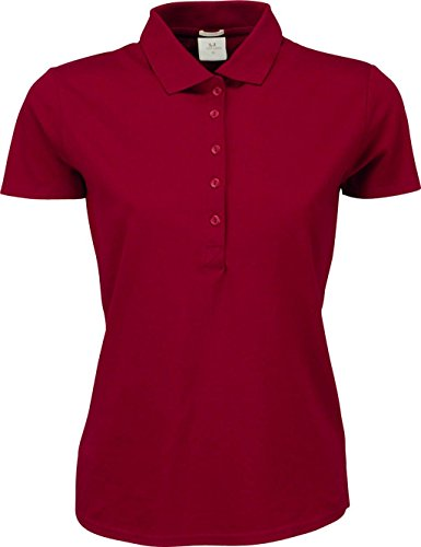 Ladies Luxury stretch Polo Rouge vif
