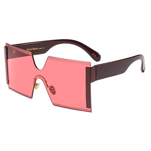 Wghz Oversized Shield Sonnenbrille Big Frame Cool Siamese Sonnenbrille Frauen Gold Clear Eyewear Gradient