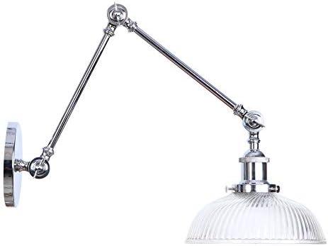 Vintage Wall Light, industriali Rustico Regolabile Appliques Rustico industriali con Paralume in Vetro casa al Coperto Retro luci E27 Presa per Camera da Letto Soggiorno (Rust Coloree),D a906b0