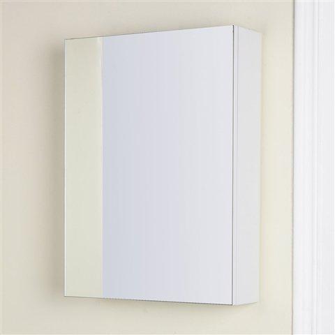 Angelina White Gloss Slimline Mirrored Bathroom Cabinet 450mm (450 x 600 x 120mm)