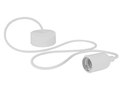 Velleman LAMPH01W Luminaire Design à Suspension en Cordage Verre Blanc