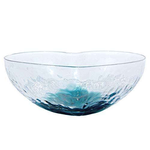Ktimor Fruit Salad Transparent Heart Shaped Crystal Glass Bowl Colorful Dessert Bowl Crystal Heart Bowl