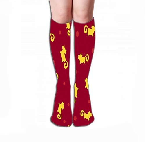 Xunulyn Hohe Socken High Socks Novelty Compression Long Socks for Women and Girls 19.7