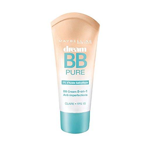 Maybelline Dream Pure BB - cremas faciales BB & CC (Piel Medio, Mujeres, Piel grasosa, Francia)