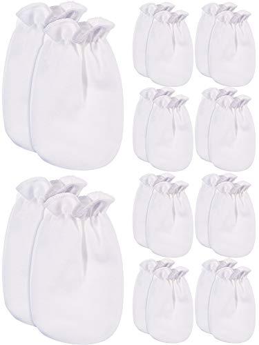 Bememo 10 Paar Baby Handschuhe Neugeborenen Baumwoll Handschuhe Kein Kratzer Fäustlinge Unisex Baby Handschuhe für 0-6 Monate Baby Gefälligkeiten