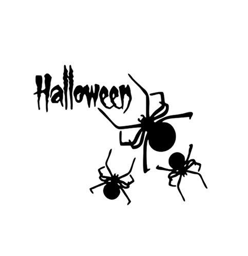 Autoaufkleber 13,4 * 10,9 Halloween Spinne Vinyl Dekor Auto Aufkleber Zubehör Silhouette Motorrad 2 Stück (Halloween-dekor Spinnen)