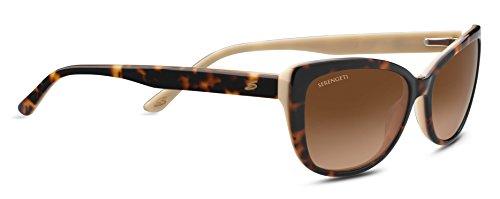 Serengeti Eyewear Erwachsene Sophia Sonnenbrille, Shiny Dark Tortoise, Medium