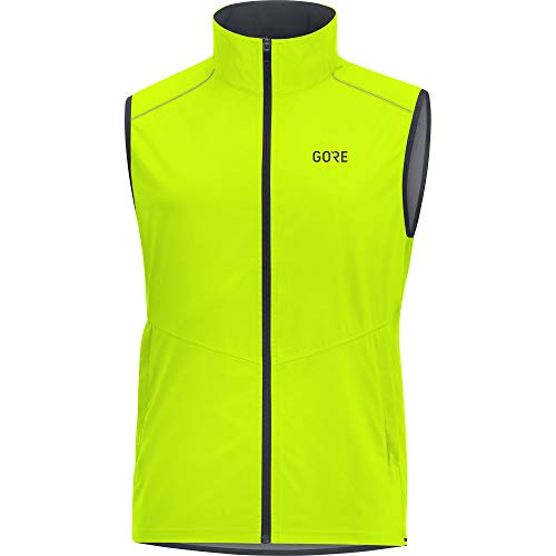 GORE WEAR R3 Windstopper Chaleco, Hombre, (Amarillo Neon), XL