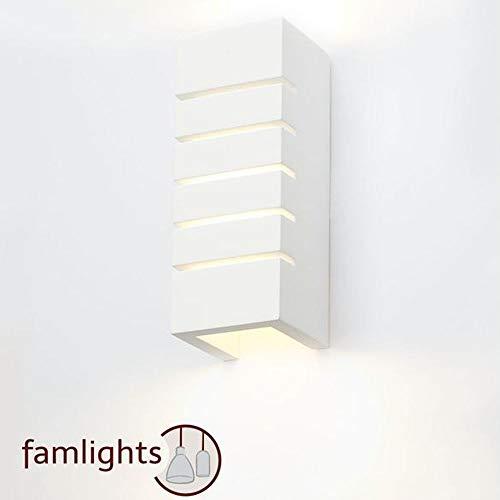 Applique murale Plâtre Rudi Intensité variable eckige Up Down Lampe murale Blanc E14 Lampe rectangulaire recouvrable