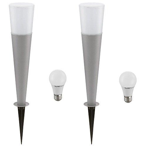 2er Set LED 7 Watt Design Steck Leuchten Außen Stand Lampen Erd Spieß Steh Beleuchtungen EEK A+