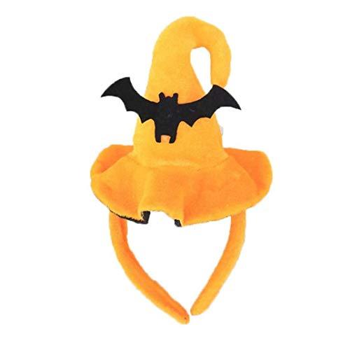 Halloween Stirnband Kinder Erwachsene Leistung Props Kürbis-Hut-Stirnband-Schläger-Spinnen-Halloween-Party-Kopfbedeckung (Bulk Weihnachten Hüte)