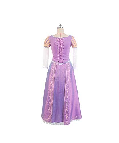 Kostüm Erwachsene Damen Für Rapunzel - MingoTor Prinzessin Princess Rapunzel Kleid Cosplay Kostüm Damen XL