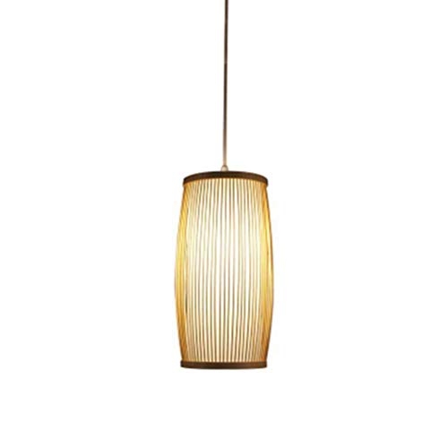 Y.H_Super Lámpara de bambú Chino Restaurante Bar Techo luz Creativa Sola Cabeza Colgar lámpara E27 * 1-2375