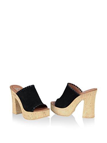 Gusto  Antigua, sandales femme Noir