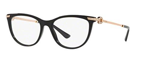 Bulgari Damen Brillengestell Schwarz Schwarz Einheitsgröße