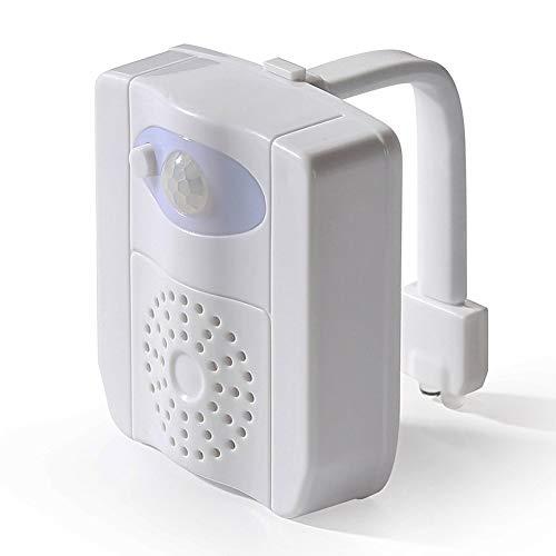 Toiletten-Nachtlicht, 16 Farben, wasserfest, LED, Toilettenlicht, bewegungsaktiviert, mit Aromatherapie & UV-Sterilisator, Sensor, LED-Waschraum Nachtlicht, 16 Colors, Free Size -