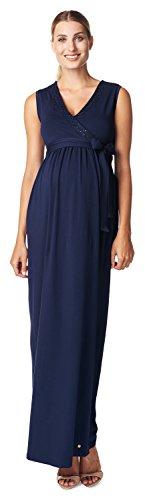 ESPRIT Maternity Damen Umstandskleid D84289, Maxi, Einfarbig, Gr. 42 (Herstellergröße: XL), Blau (Royal Navy 488)