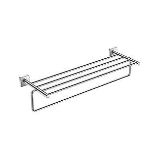 312u5Epwf4L. SS324  - Roca A816660001 Portatoallas con toallero (Posibilidad de instalación mediante tornillería o adhesivo), Cromado
