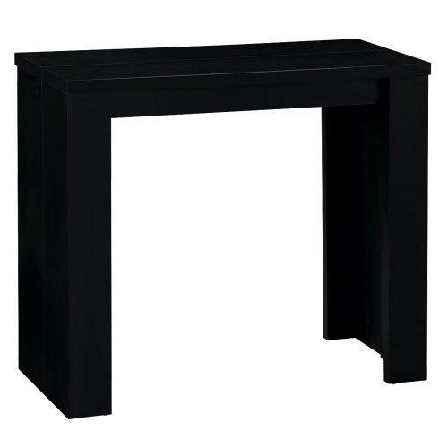 Menzzo AT9011 Contemporain Brookline Table Console Bois Noir 40/90/140/190 x 90 x 76,5 cm