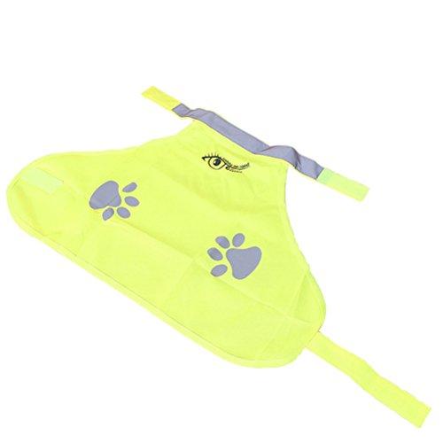 UEETEK Hund Reflektierende Weste wasserdichte Sicherheitsweste Signalweste für Hunde Schutz