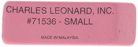 Charles Leonard Radiergummi–Gummi–Keil Form Pink–Kleine, 3Dutzend, 71536