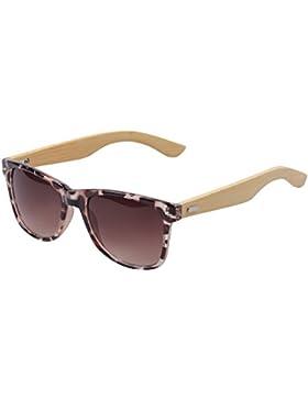 BOZEVON Gafas de sol de Bambú de las Piernas de la Manera UV400