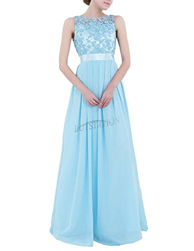 ormal Prom Dress Cocktail Party Ball Gown Evening Bridesmaid Dresses #1 Sky Blue 16 ()