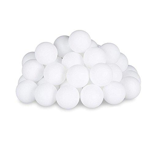 Ruikey 40 mm Tischtennisbälle Ping Pong Bälle Set Kunststoff 50 Stück, plastik, weiß, 40 mm