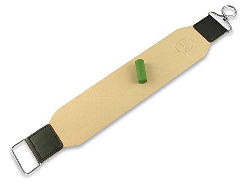 Streichriemen Abziehleder 2-teiliges Set EXTRA BREITE AUSFÜHRUNG Rindleder mit Solingen Schleif Paste zum schärfen von Rasiermesser