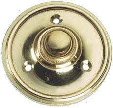 Solid Polished Brass Round Victorian style Door Bell Push / Switch (PB39) by OriginalForgery