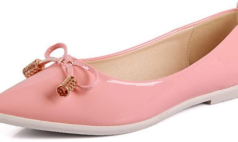 PDX/Damen Schuhe flach Absatz spitz Zehen/geschlossen Zehen Wohnungen Casual Schwarz/Pink/Weiß