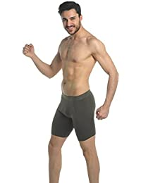 Männer hervorragende Qualität weicher Baumwolle langes Bein Boxer shorts-alle Größen (Ref:1150) Mens long boxer