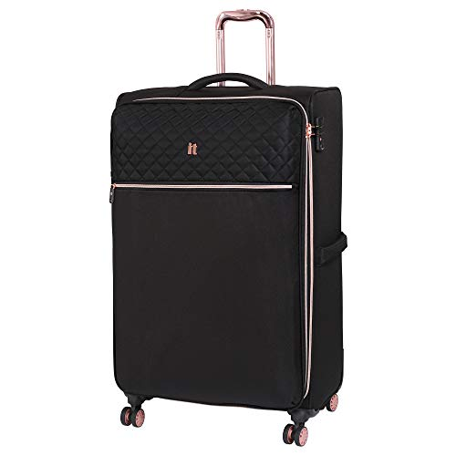 it luggage Divinity 8 Wheel Lightweight Semi Expander Suitcase Large with TSA Lock Koffer, 80 cm, 125 liters, Schwarz (Black)