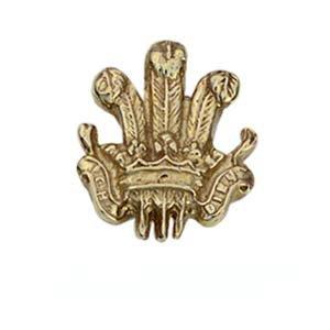 Pince à cravate 11x11mm en Or Jaune 9ct - 375/1000 plumes du Prince de Galles