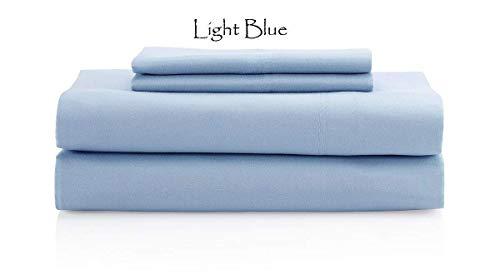 # 1Bed Sheet Set-PREMIUM QUALITÄT 100% ägyptische Baumwolle 400thread-count King Size {4}-Bettlaken-Set (, aqua blau) 38,1cm Deep Pocket-Durch