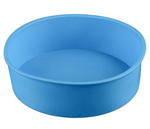 Leisial 1 Stücke Rundform Silikonbackform Kuchenformen Silikon Runde Kuchenform Zufällige Farbe 17*5.5CM