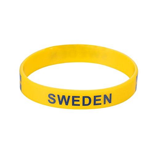 BESTOYARD Bracelet de sport Silicone Bracelet pour la coupe du monde 2018 (Suède) BESTOYARD