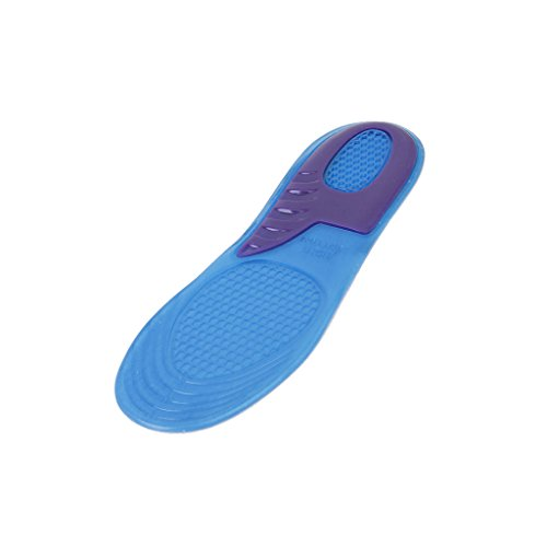 Imported Footful 1 Pair Adhesive Gel Insoles Arch Support with Cuttable Size EU 43-47