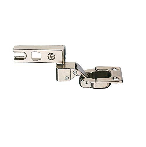 Gedotec Klappenscharnier verstellbar Topfscharnier für Klappen aus Holz - H8958 | Anschlag: links | Öffnungswinkel 95° | Stahl vernickelt | 1 Stück - Klappenhalter zum Schrauben -