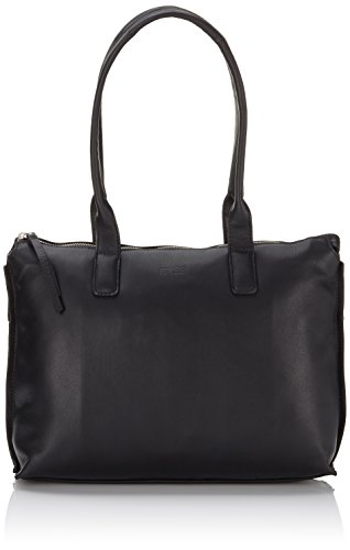 BREE Toulouse 3, black smooth, doub. shoulder 334909003 Damen Schultertaschen 32x11x22 cm (B x H x T), Schwarz (black smooth 909)