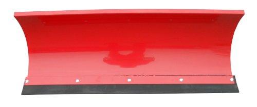 Universal Schneeschild / Hochwertig rot pulverbeschichtet / Breite: 125 cm – Höhe 40cm / Für Einachser Rasentraktor Quad Atv - 2