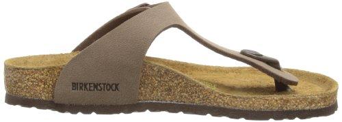 Birkenstock Gizeh Birko Flor, Unisex-Kinder Sandalen, Braun (Nubuck Mocca), Gr. 33 EU / 2 UK -