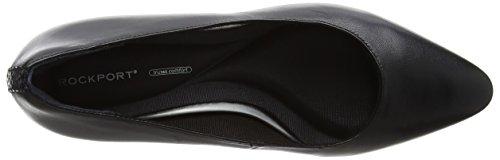 Rockport Kirsie Plain Pump, Scarpe Col Tacco Punta Chiusa Donna Nero (Black Leather)
