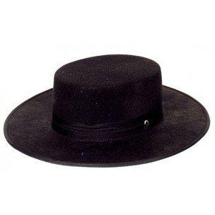 Zorro Kostüm (Spanierhut schwarz im)
