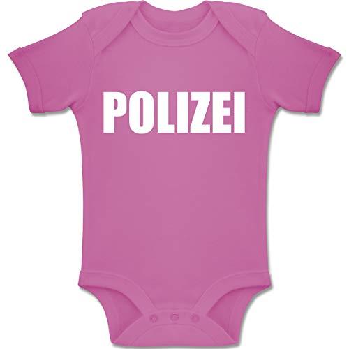 Mädchen Drei Kostüm Gruppe - Shirtracer Karneval und Fasching Baby - Polizei Karneval Kostüm - 3-6 Monate - Pink - BZ10 - Baby Body Kurzarm Jungen Mädchen
