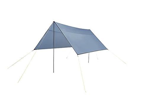 Grand Canyon Shelter 400 - 302301 - Tarp / pare soleil avec tiges de maintien protection UV50 400 x 400 cm bleue