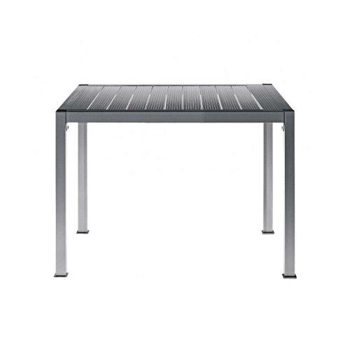 Driade Thali Aluminium Gartentisch, silber eloxiert Größe 1 90x90cm