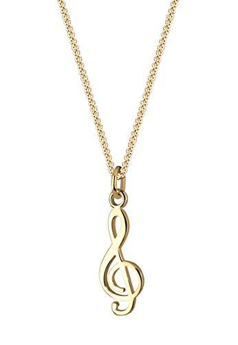 Goldhimmel Damen-Halskette 925 Silber 45cm 0105842711_45 (Violinschlüssel Halskette Gold)