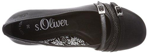 s.Oliver 22110, Ballerine Donna Nero (Black)